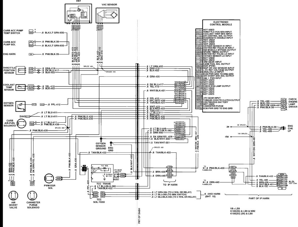 1986 Chevrolet Pickup Wiring Diagram