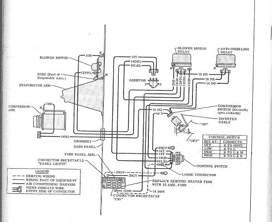 1972 chevy c10 blower motor wiring diagram