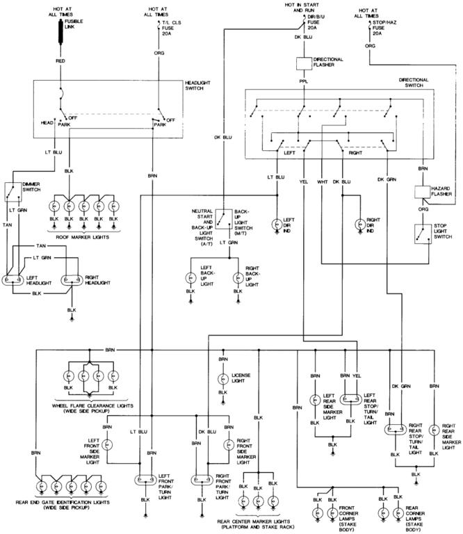 1986 Chevy Truck C10 Wiring Diagram