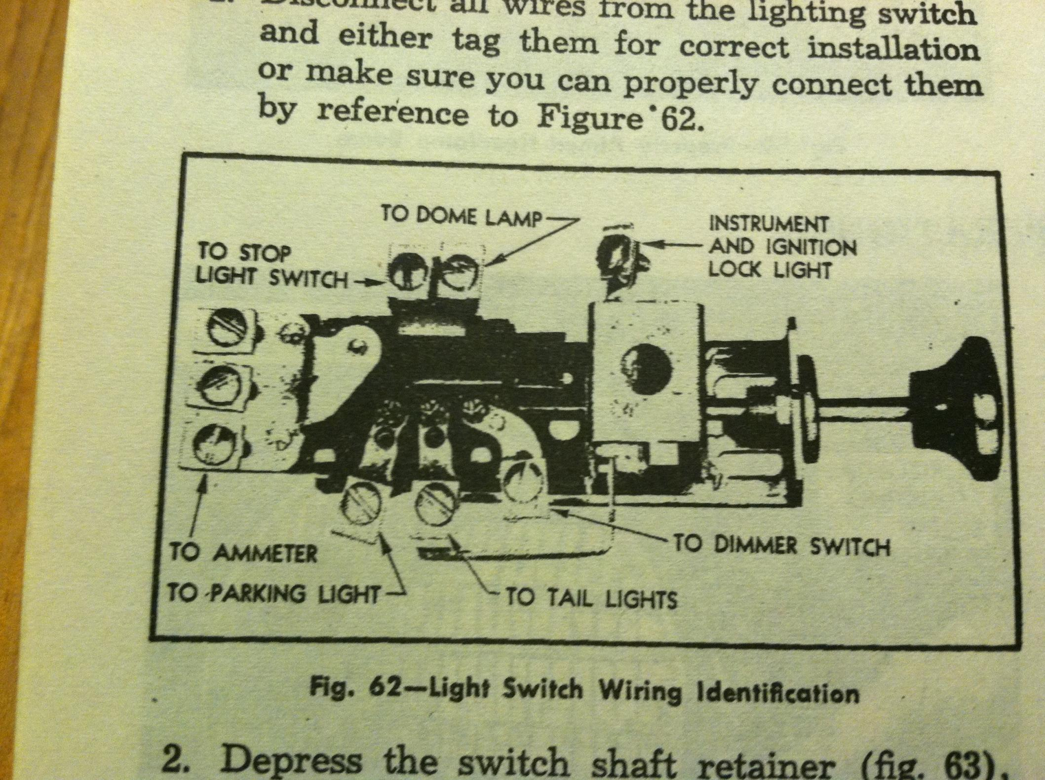 1949 Chevy Truck Headlight Switch Wiring - Wiring Diagram M10 on