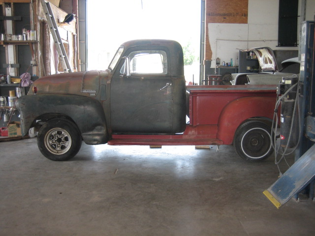 53 chevy truck on s-10 frame | Classic Parts Talk