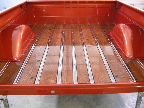 Ash Wood With Red Mahogany StainStainless Steel Strips