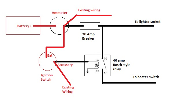 quick wiring question heater and lighter  classic parts talk